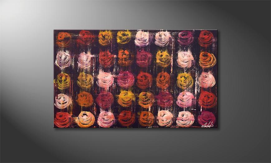 Das exklusive Bild Summer Roses 100x60x2cm