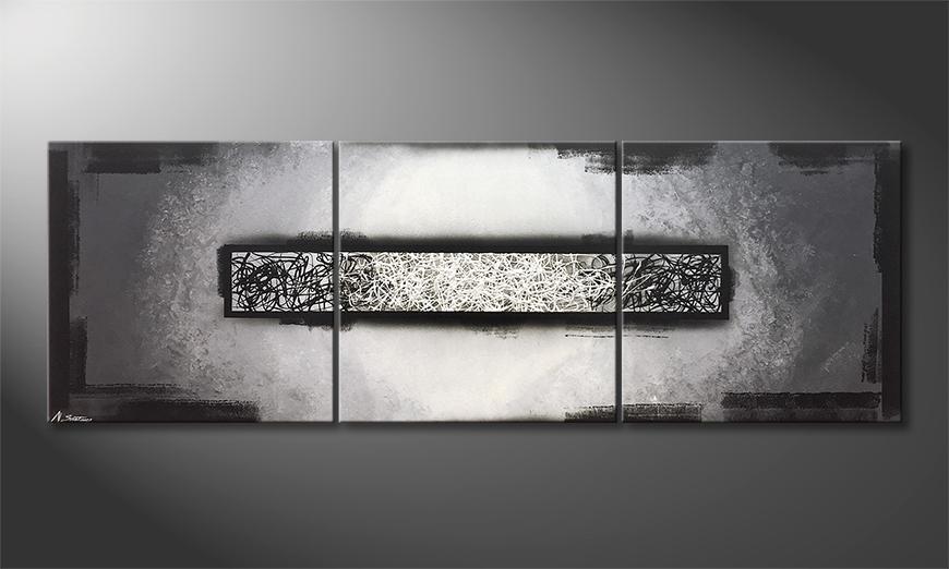 Das exklusive Bild The Middle Of Black 210x70x2cm