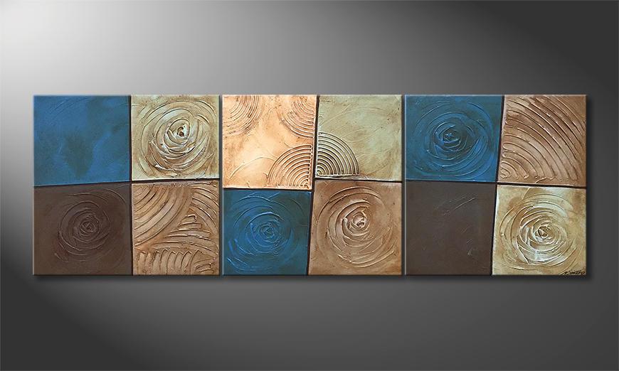 Das exklusive Bild Water Stones 210x70x2cm