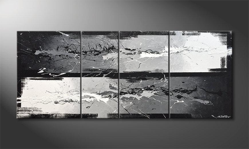 Das moderne Bild Black vs. White 170x70x2cm