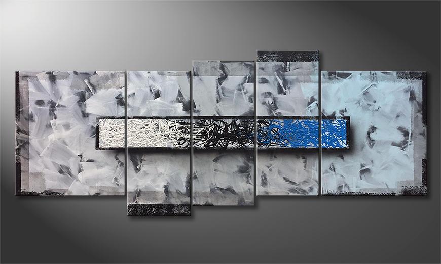 Das moderne Bild Blue Shift 190x80x2cm