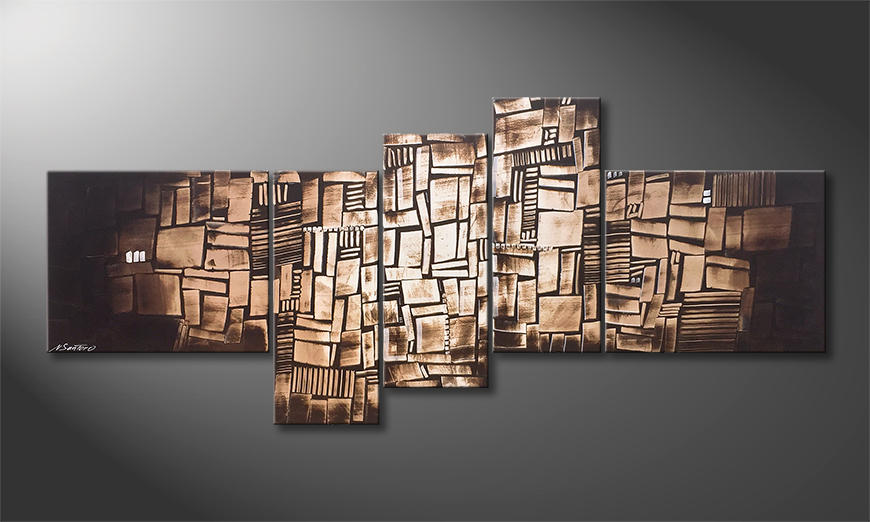 Das moderne Bild Choclate Cubes 210x90x2cm