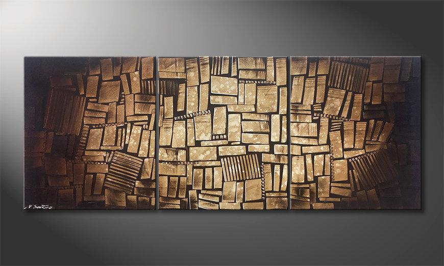 Das moderne Bild Cubic Wood 180x70x2cm