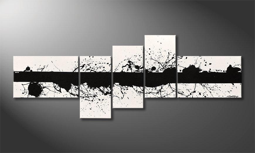 Das moderne Bild Cut White 210x80x2cm