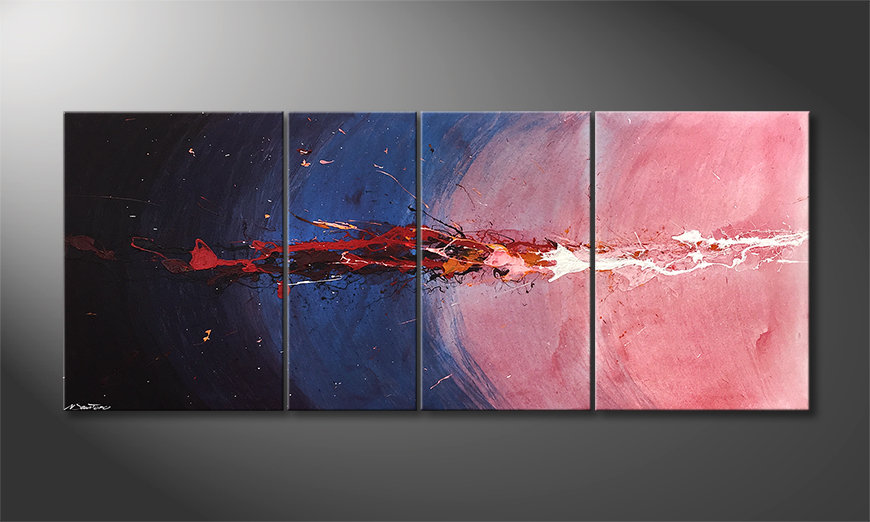 Das moderne Bild Deep Sea Eruption 170x70x2cm