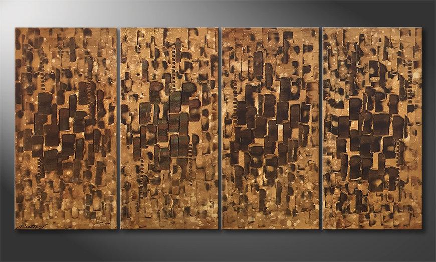 Das moderne Bild Desert Cubes 160x80x2cm