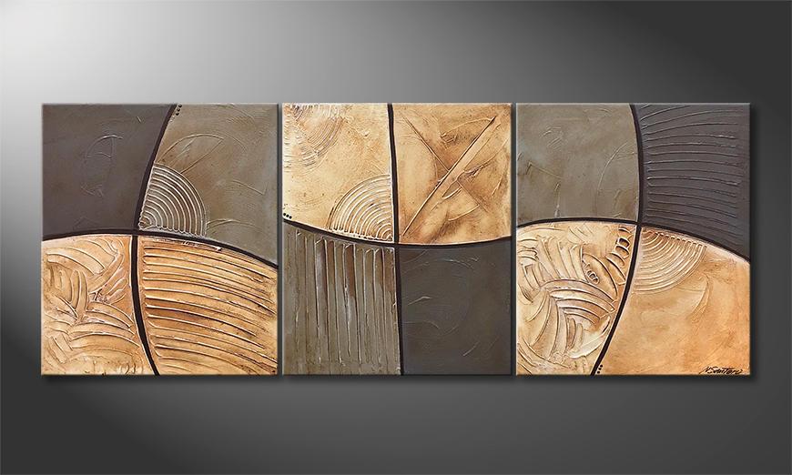 Das moderne Bild Earth Movement 180x70x2cm