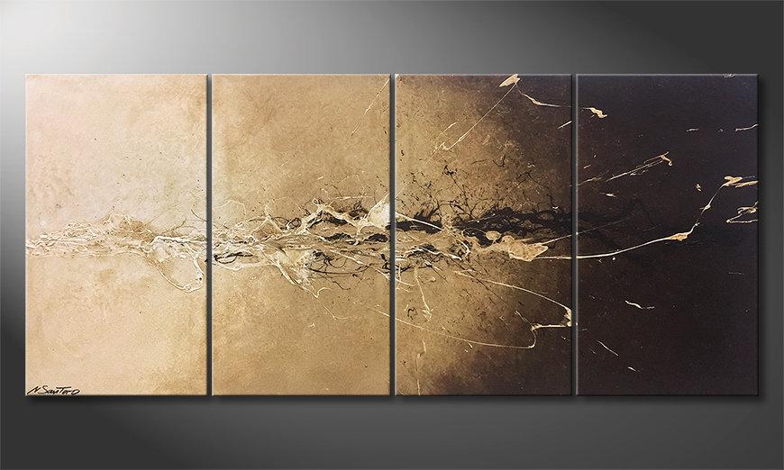 Das moderne Bild Earth Splash 160x70x2cm