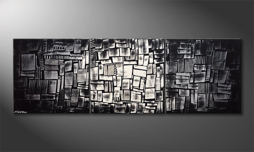 Das moderne Bild Enlightened Cubes 210x70x2cm
