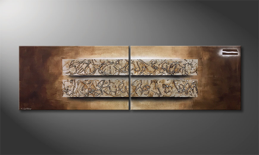 Das moderne Bild Former Traces 200x60x2cm