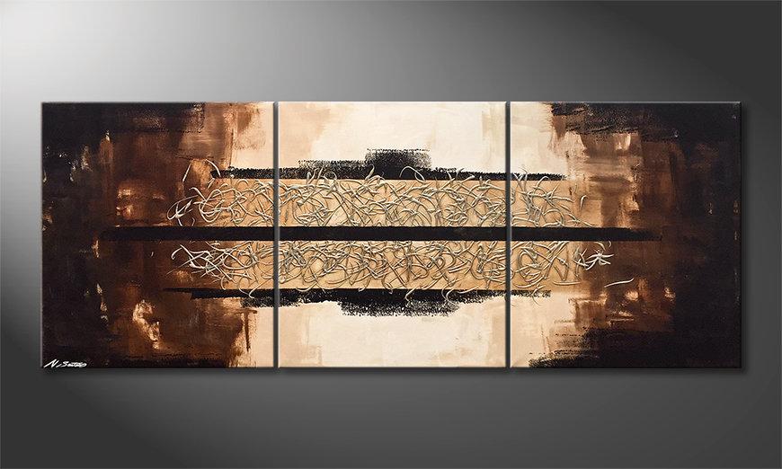 Das moderne Bild Glowing Splash 180x70x2cm