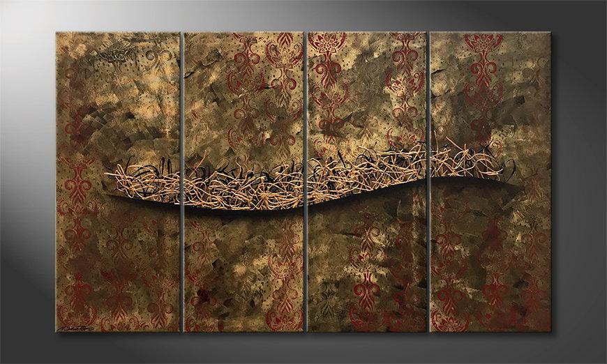 Das moderne Bild Golden Deep 160x100x2cm