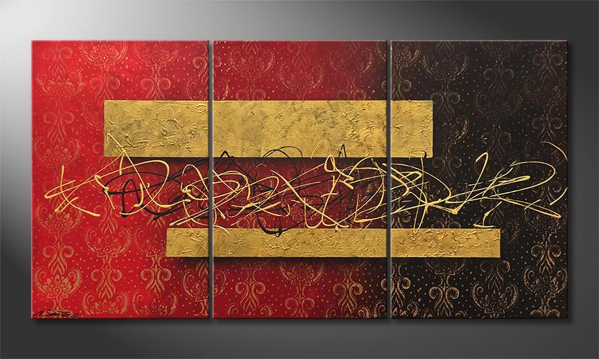 Das moderne Bild Golden Memories 150x80x2cm