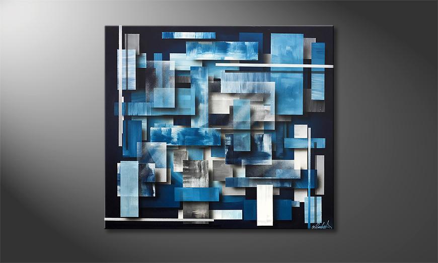 Das moderne Bild Hover Water 90x80x2cm