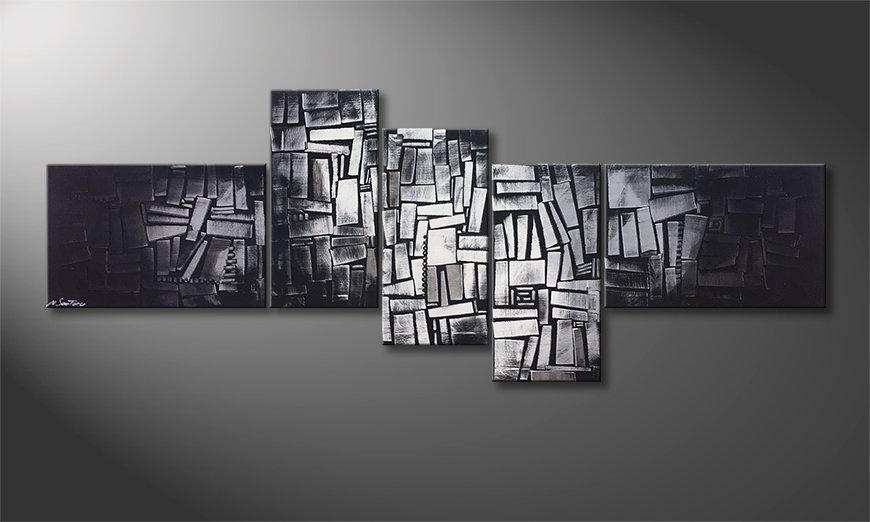 Das moderne Bild Light Cubes 210x80x2cm
