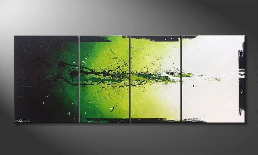 Das moderne Bild Liquid Green 180x70x2cm