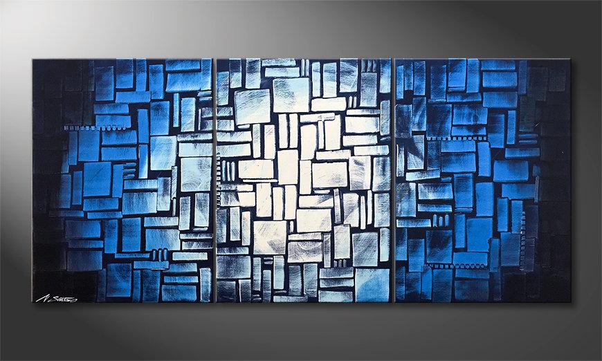 Das moderne Bild Moon Blues 150x70x2cm