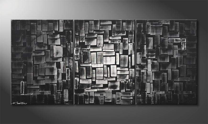 Das moderne Bild Night Light 150x70x2cm