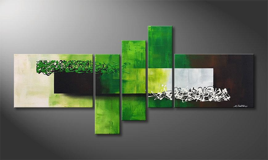 Das moderne Bild Playful Meadow 210x80x2cm
