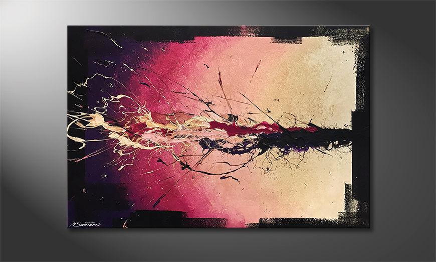 Das moderne Bild Purple Moment 120x80x2cm