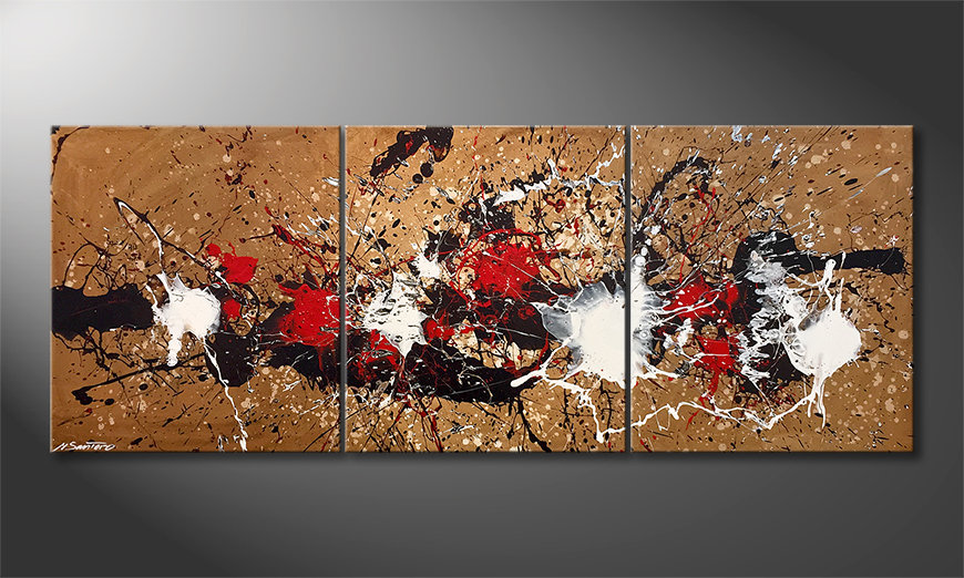 Das moderne Bild Rage Of Earth 180x70x2cm