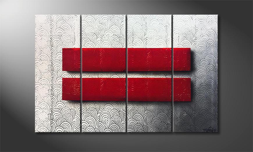 Das moderne Bild Red Silence 120x80x2cm