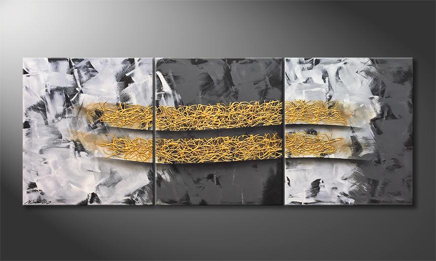 Das moderne Bild Shinning Gold 180x70x2cm