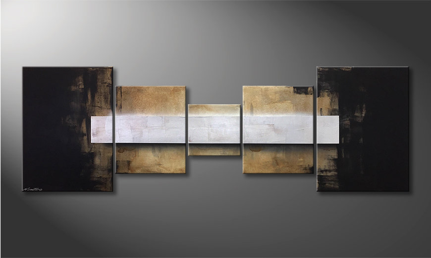 Das moderne Bild Shinning Silver 210x70x2cm