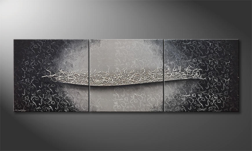 Das moderne Bild Silver Affair 210x70x2cm