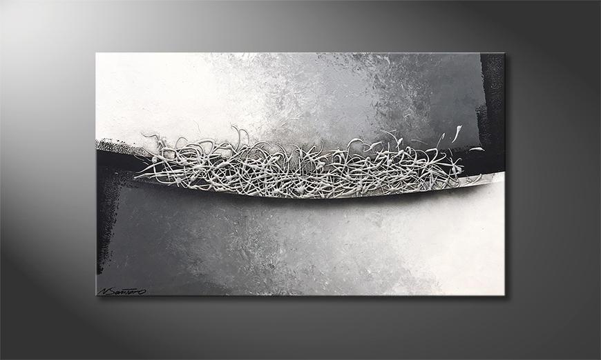 Das moderne Bild Silver Crush 100x60x2cm