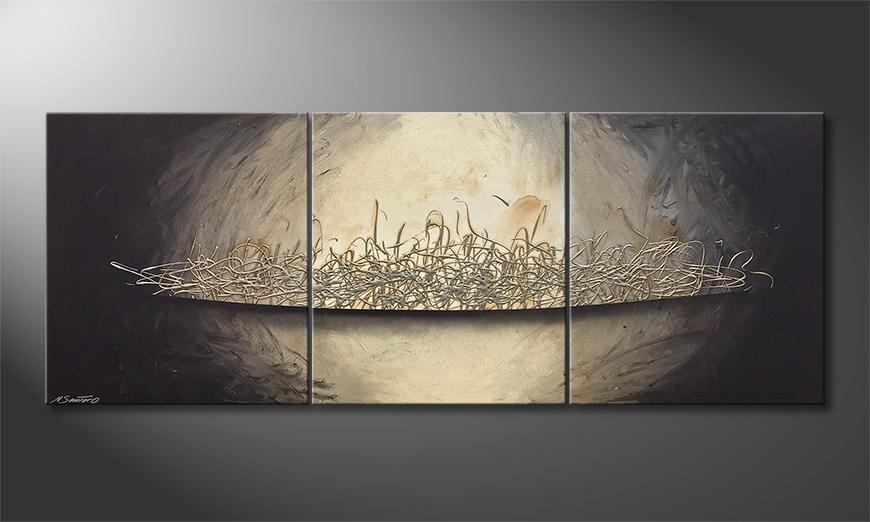 Das moderne Bild Silver Fire 180x70x2cm