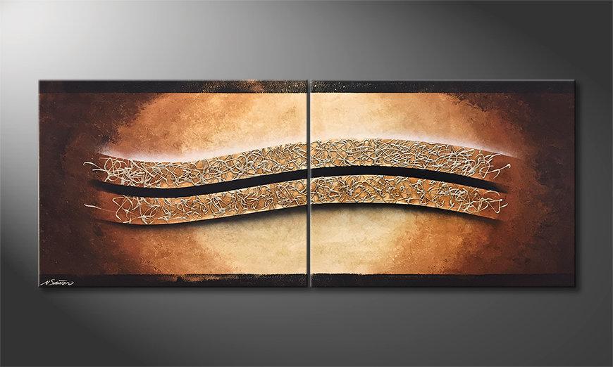Das moderne Bild Silver Harmony 200x80x2cm