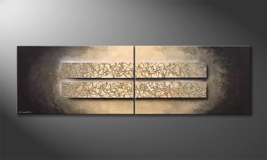 Das moderne Bild Silver Nights 200x60x2cm