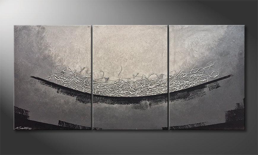 Das moderne Bild Silver Valley 150x70x2cm