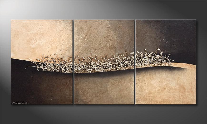 Das moderne Bild Silver Wave 150x70x2cm