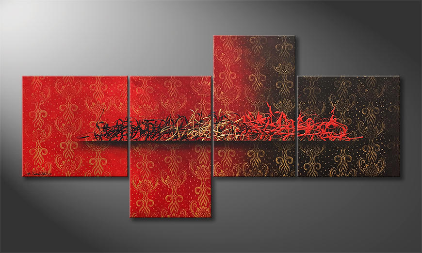 Das moderne Bild The Golden Middle 210x70cm
