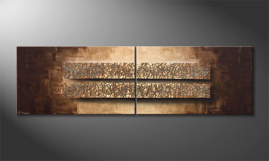 Das moderne Bild Two Dimensions 200x60x2cm