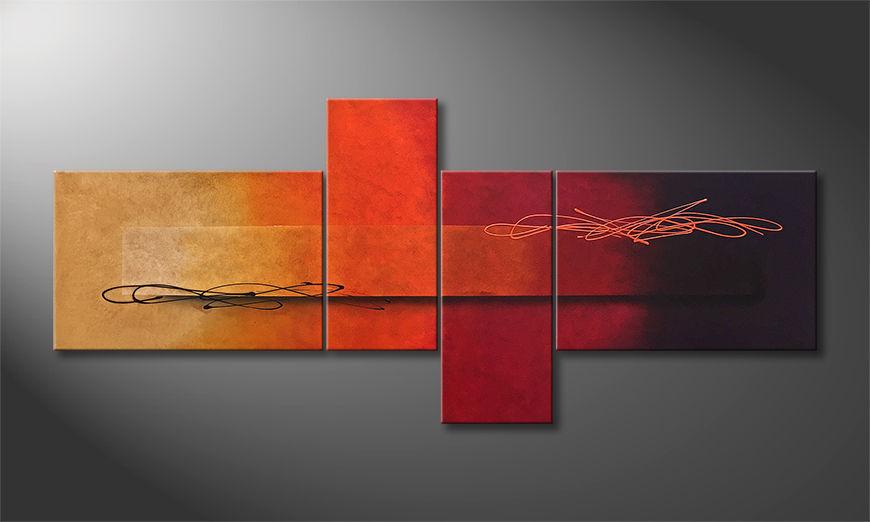Das moderne Bild Warmth Moment 200x90x2cm