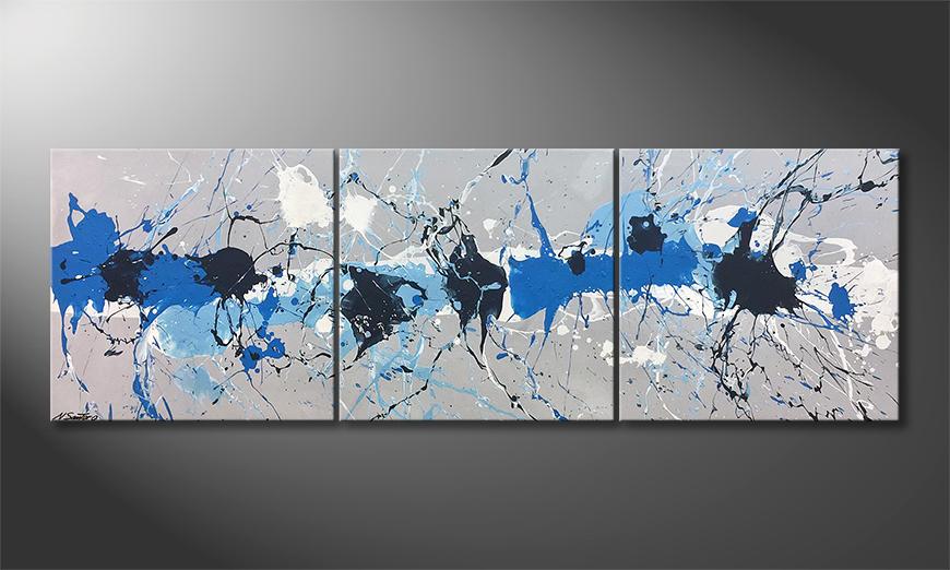 Das moderne Bild Water Drops 210x70x2cm