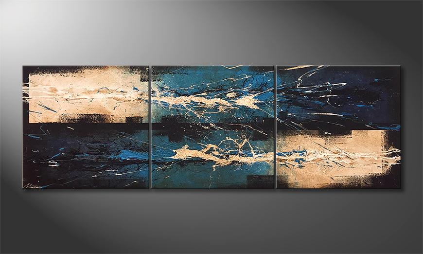 Das moderne Bild Water Lights 210x70x2cm