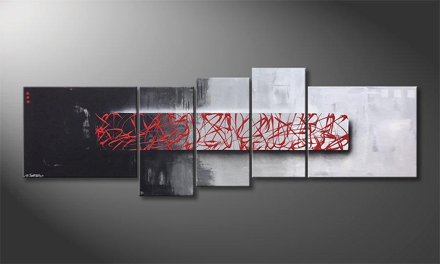 Das moderne Wandbild An Instant 210x70x2cm