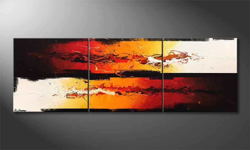 Das moderne Wandbild Battle Of Fire 210x70x2cm