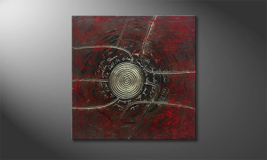 Das moderne Wandbild Blake 80x80x2cm