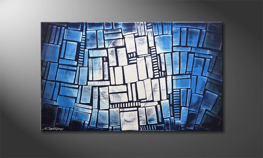 Das moderne Wandbild Blue Windows 100x60x2cm
