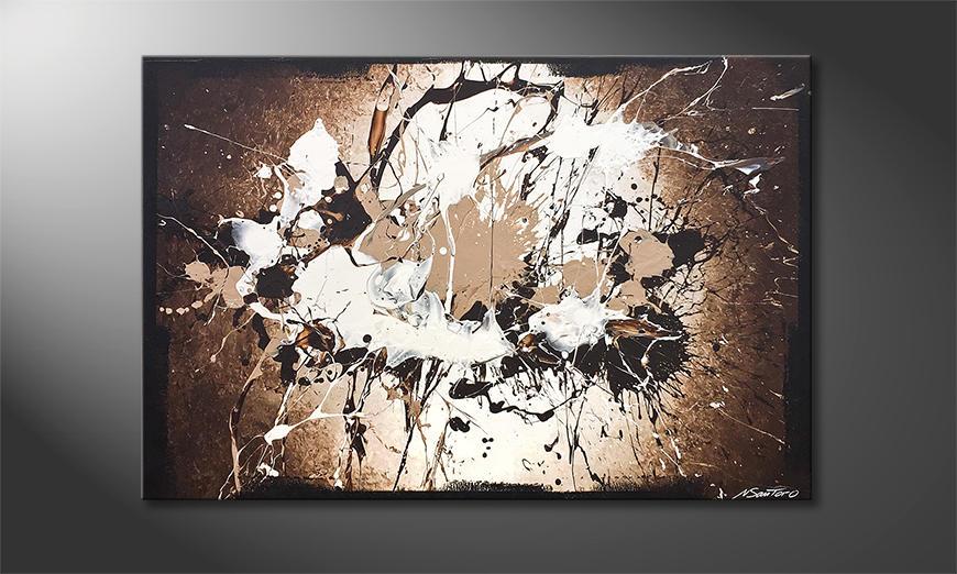 Das moderne Wandbild Broken Contrast 120x80x2cm
