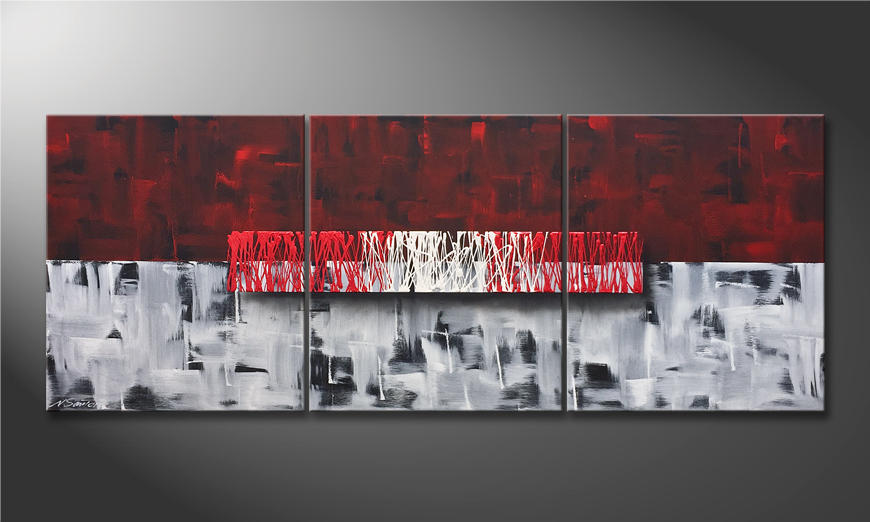 Das moderne Wandbild Clear Thought 180x70x2cm