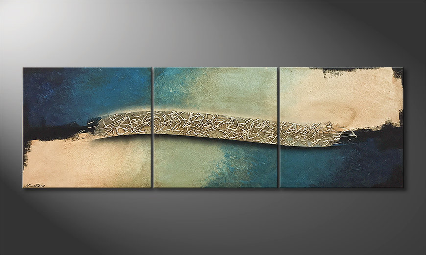 Das moderne Wandbild Cold Wave 210x70x2cm