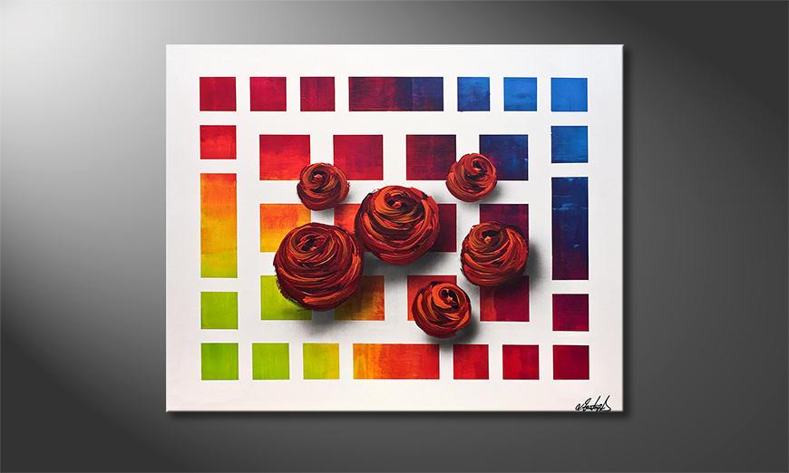 Das moderne Wandbild Colors Of Roses 100x80x2cm