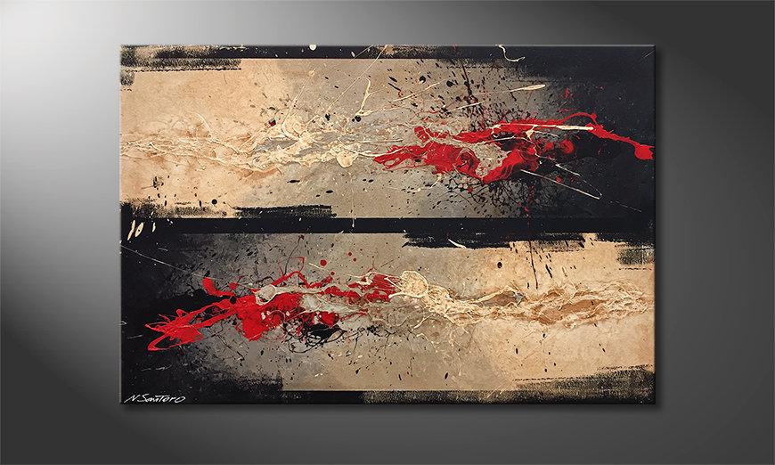 Das moderne Wandbild Contrasts Combat 120x80x2cm
