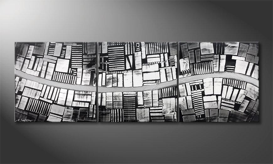 Das moderne Wandbild Downtown 180x60x2cm